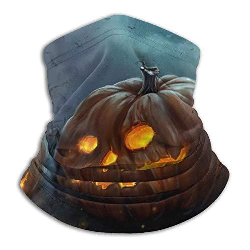 NA Halloween Pumpkin Tree Night Fleece Neck Warmer Gaiter Seamless Face Mask Outdoor Neck Gaiter Windproof Breathable Bandana Balaclavas