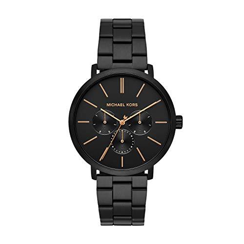 Michael Kors Men's Blake Quartz Watch with Stainless Steel Strap, Black, 20 (Model: MK8703)