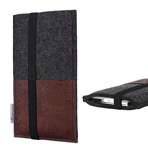 flat.design Sintra Mobile Phone Case Compatible with Huawei nova 8 SE 5G Dimensity 800U Mobile Phone Case Felt Case Protection Card Slot Case Brown Cork