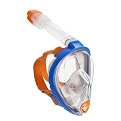 """The """"Original"""": - OCEAN REEF's ARIA revolutionalized snorkeling by eliminating many of the negatives of traditional snorkeling masks and snorkels. Improved panoramic vision, ability to breathe from mouth and/or nose, face kept dry, dry top snorkel an..."""