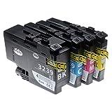 vhbw 4x cartucce con chip compatibile con brother hl-j6000dw, hl-j6100dw, mfc-j5945dw, mfc-j6945dw, mfc-j6947dw (c/y/m/b) - set per stampante