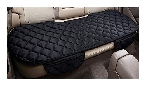 LQW HOME Auto Chair Cushion Car Seat Coves Protector Mat Auto Rear Seat Cushion Fit Most Vehicles Non-slip Keep Warm Winter Plush Velvet Back Seat Pad Skid resistance (Color : Black)