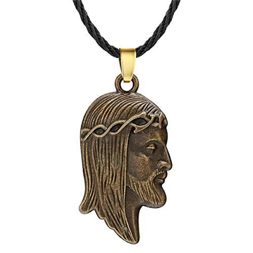 N/G Collar de Hombre Vintage eslavo geométrico águila Cruz Hacha Amuleto Colgante Amuleto Vikingo Collar de Hombre Regalos para niños