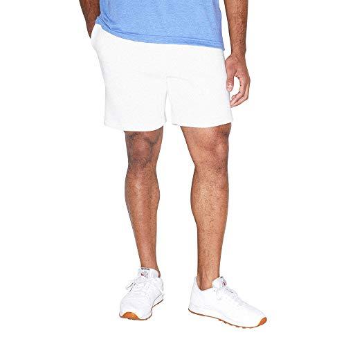 American Apparel Herren Mason Fleece Gym Shorts, weiß, X-Groß