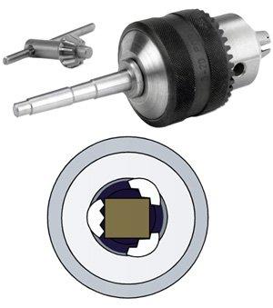 Bohrfutter mit MK2 Aufnahme für Einsatz auf der Drechselbank 1-13 mm