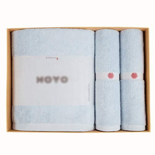 Toallas de mano Toallas de Baño Toallitas Toallas de Mano Conjunto Altamente Absorbente de Algodón Suave Toallas de Playa Camping al Aire Libre Cuarto de Baño (3 Pack) Secado rápido ( Color : Blue )