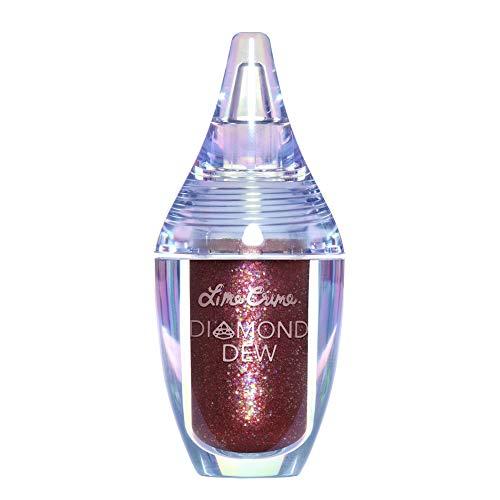 Lime Crime Diamond Dew Glitter Eyeshadow, Chameleon - Iridescent Burgundy Lid Topper - Reflective Sparkle Shadow for Lids, Cheeks & Body - Won't Smudge or Crease - Vegan - 0.14 fl oz