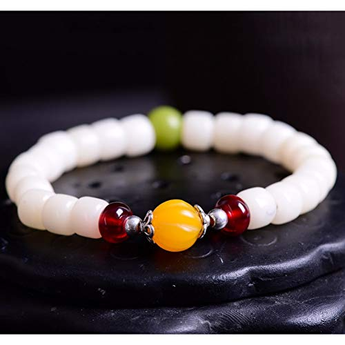IFVCS armband Bodhinatural Wit Bodhi Seed Armband