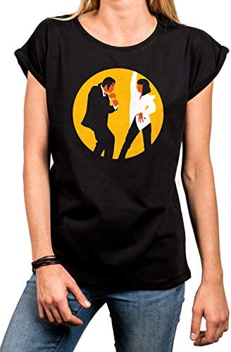 MAKAYA T-Shirt Manga Corta - MIA & Vincent Bailando - Camiseta para Mujer
