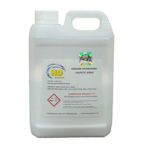 Limpiador de desagüe, sosa cáustica de 1,5 kg de caudal de grado 99% «perla», hidróxido de sodio para hacer jabón
