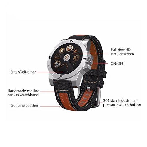 Pinkbenmus - Reloj Deportivo GPS/Cámara remota, Smart Watch con Pulsometro, Frecuencia del Latido, Idiomas Diferentes Rastreador de GPS