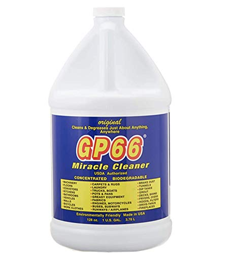 GP66 Green Miracle Cleaner Gallon (1, gal.) Heavy Duty Powerful Concentrate All Purpose Cleaner Kitchen Cleaner Bathroom Cleaner Laundry Detergent Cleaning Spray Cleans Just About Anything Oven Cleaner Grout Cleaner Cooktop Cleaner