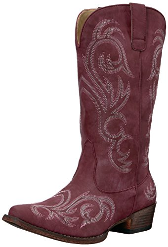 Roper Women's Riley Western Boot, Red, 10.5 D US