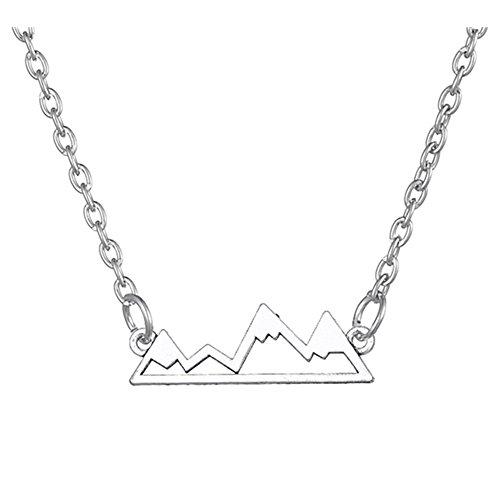 My Shape Minimalistische Schneeberg-Anhänger Halskette für Wanderer, Skifahrer, Outdoor-Liebhaber, Kletterer und Snowboarder