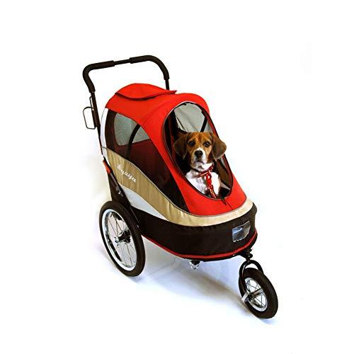 GCSEY kinderwagen voor huisdieren belasting 30 kg met 3 grote opblaasbare banden kan worden aangesloten op fiets huisdier kinderwagens voor reizen