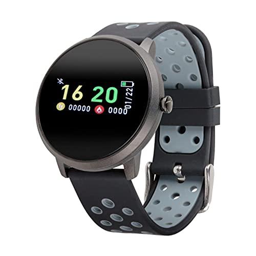MEDION Fitnessuhr mit Farbdisplay E1800 und App (Multi-Sport-Modi, Herzfrequenzmesser, Schlaftracking, Schrittzähler, Stoppuhr, Staub- und Wassergeschützt IP68)