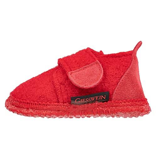 GIESSWEIN Chaussons pour bébé - Chaussons chauds pour bébé avec fermeture Velcro - Antidérapants