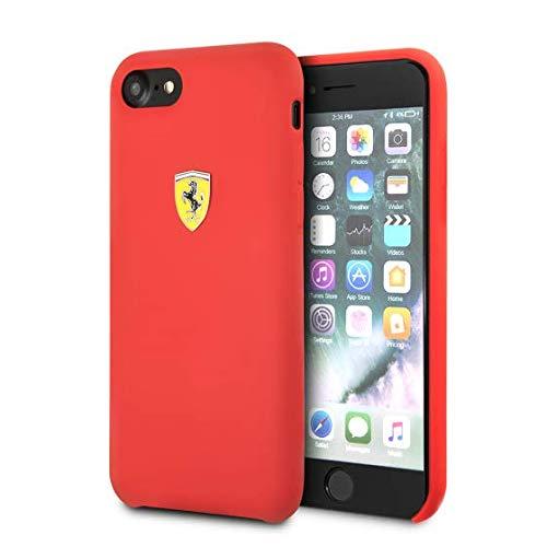 Ferrari fessih ci8re Custodia per Apple iPhone 8/7Rosso