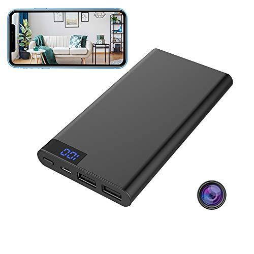GEQWE Cargador De Viaje con Cámara Espía 4K HD, Cámara Oculta Inalámbrica WiFi con Cámara De Vigilancia con Sensor De Movimiento De Visión Nocturna, para El Hogar Y La Oficina