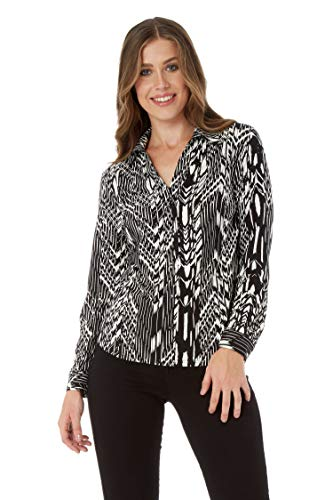 Romeinse originelen vrouwen geplooide lange mouwen V-hals monochroom shirt blouse - dames mode shirt voor werk formele zakelijke partij gelegenheden tops shirts blouses
