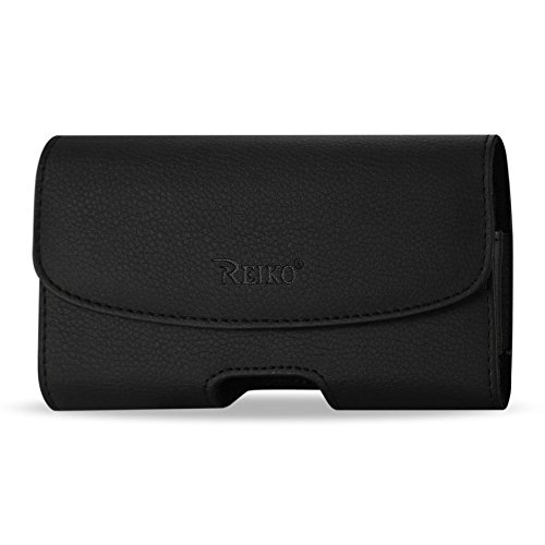Horizontal Leather Case with Magnetic Closure with Belt Clip and Belt Loops for Consumer Cellular Doro 7050