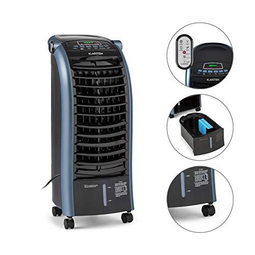 Klarstein Maxfresh Ocean - 3-in-1 Luftkühler, Ventilator, Luftbefeuchter, 65 W, 444 m³/h, 4 Windstärken, 3 Modi: Normal/Natur/Nacht, Timer bis 15 h, Wassertank-Volumen: 6 L, mobil, blau