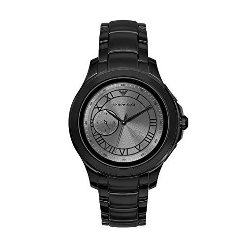 Emporio Armani heren-smartwatch met roestvrij stalen armband ART5011