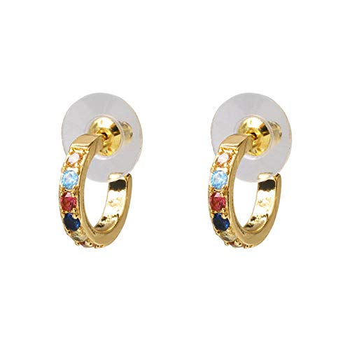 Drop Earrings For Women Fashion Small Hoop Earrings Elegant Statement Gold Color Copper Huggie Earring For Girls Wedding Jewelry-Style 1