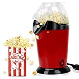Hot Air Popcorn Poppers Home Electric Popcorn Maker 1200W Machine Lid Oil-Free BPA-Free Fast Home...