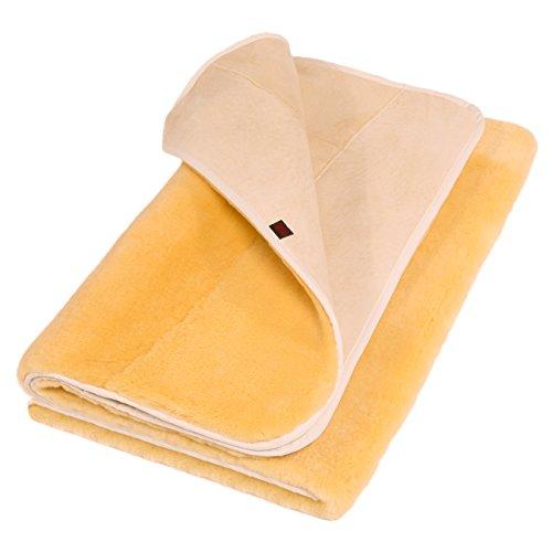Lammfell Matratzenauflage COMFORT von CHRIST – Luxus Betteinlage, Bettauflage aus medizinischem, echtem Schaffell, Fell Bettunterlage erhältlich in 90 x 200 cm