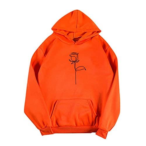 Women's Powerblend Fleece Hoodie Orange