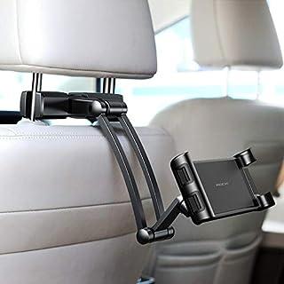 حامل هاتف وتابلت يونيفرسال للسيارة، قابل للتعديل، يثبت على مسند الراس من الخلف، ملحقات السيارة الداخلية للاطفال