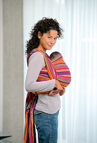 AMAZONAS Babytragetuch Carry Sling Lollipop 510 cm 0-3 Jahre bis 15 kg buntgestreift - 3