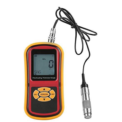 Misuratore di spessore di vernice, display LCD GM280 Misuratore di spessore di rivestimento digitale 0-1800μm Misuratore di film di vernice Misuratore di strumenti per elettricisti Misuratore