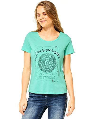 Cecil Damen 315148 T-Shirt, Light Molecule Mint Green, Medium