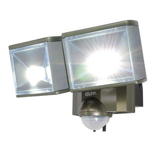 ELPA 屋外用センサーライト AC電源 8wLED 2灯 ESL-802AC