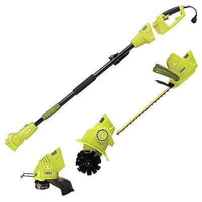 Sun Joe GTS4000E Lawn + Garden Multi-Tool Care System, Green - (Renewed)