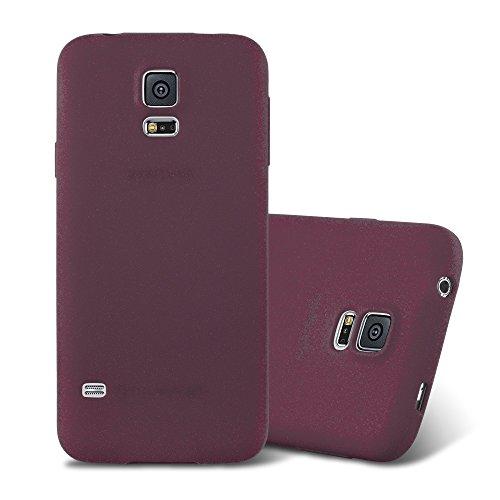 Cadorabo Hülle für Samsung Galaxy S5 / S5 NEO in Frost Bordeaux LILA - Handyhülle aus flexiblem TPU Silikon - Silikonhülle Schutzhülle Ultra Slim Soft Back Cover Hülle Bumper