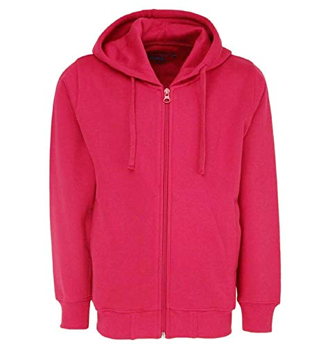 Prokick Kid's Rich Cotton Full Sleeves Zipper Jacket with Hoodies for Girls and Boys, Pink - 4-5YRS