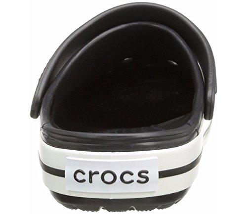 Crocs Crocband Unisex Adulta Zuecos, Negro (Black), 48/49 EU