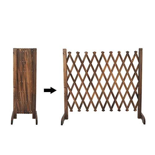 BBGS Expanding Wood Fence, Solid Wood Dining Room Living Room Interior Balcony Decorative Fence Pet Partition Wooden Fence (Size : H70cm)