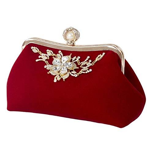 Sac À Main Mode Femmes Sac À Main Soirée Soirée De Mariée Embrayage Sac À Bandoulière De Bal De Mariage Portefeuille Bourse Rouge