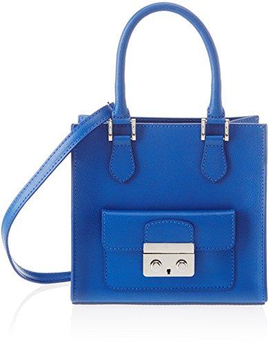 Chicca Borse 8655, Bolso de mano. para Mujer, Azul (blue), 21x20x15 cm (W x H x L)