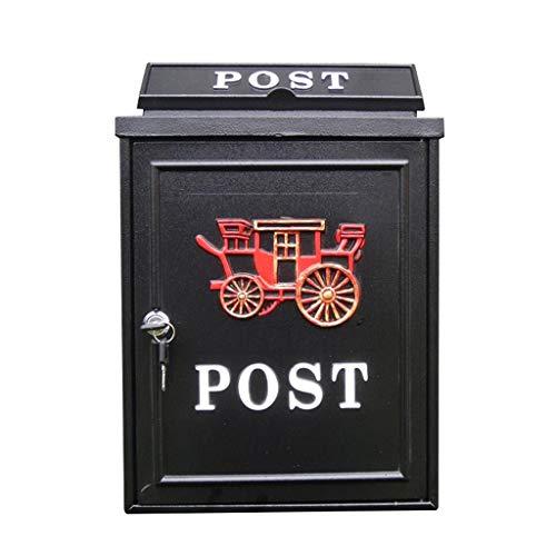 LQZYTY Creative Outdoor Wasserdichter Villa Briefkasten Retro Briefkasten Europäischer Briefkasten Einbruchsicher Briefkasten