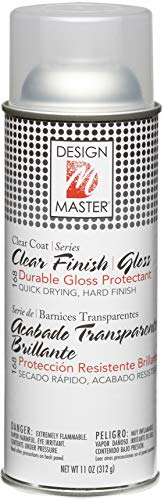 Design Master DM-HDF-168 Home Decor Finish Aerosol Spray, 11-Ounce, Clear Gloss