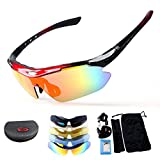 Polarized Sport Sunglasses, X7 Army Sunglasses Military Tactical Goggles With 4 Interchangeable Lens