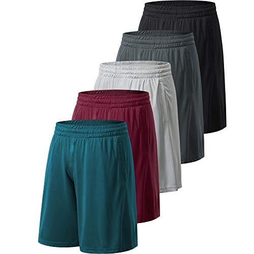 Profectors Athletic Workout Shorts for Men with Pockets Quick Dry Activewear