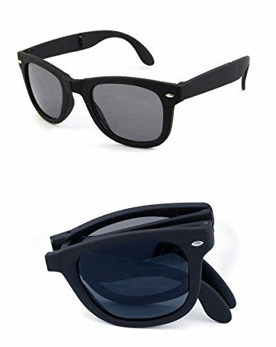 Gafas de Sol Plegables , Caja Negra Gris Hoja