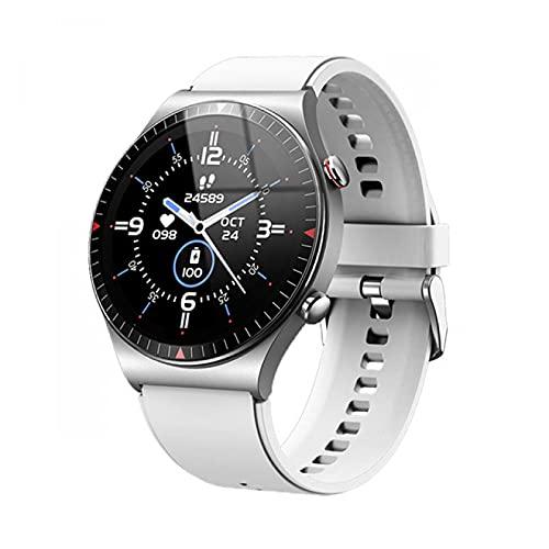 ZRSJ Bluetooth Call Smart Watch Men 4G Tarjeta de Memoria Reproductor de música Reproducente Smartwatch para Android iOS Teléfono Grabación Deporte Fitness Tracker(Negro)