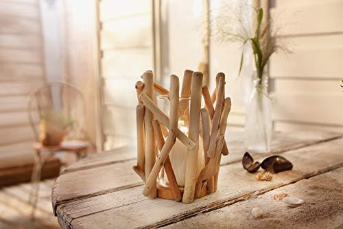 """Dekoleidenschaft Windlicht """"Maritim"""", Teelichthalter, Kerzenhalter aus Holz"""